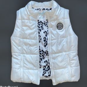 Aeropostale Puffer Quilted White Vest Size Large